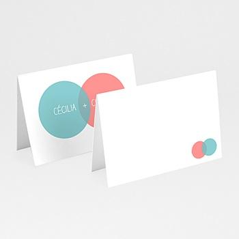 Achat marque place mariage personnalisés couleurs complémentaires