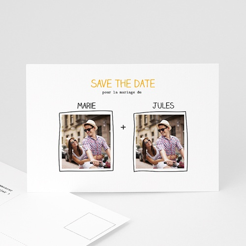 Save the date mariage Cadre main