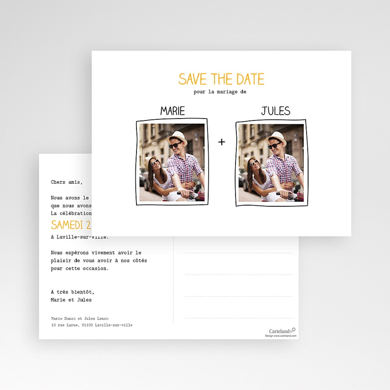 Save the date mariage Cadre main pas cher