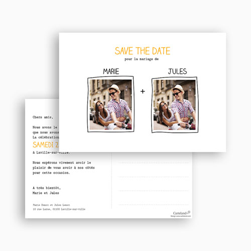 Save the date mariage Cadre main gratuit
