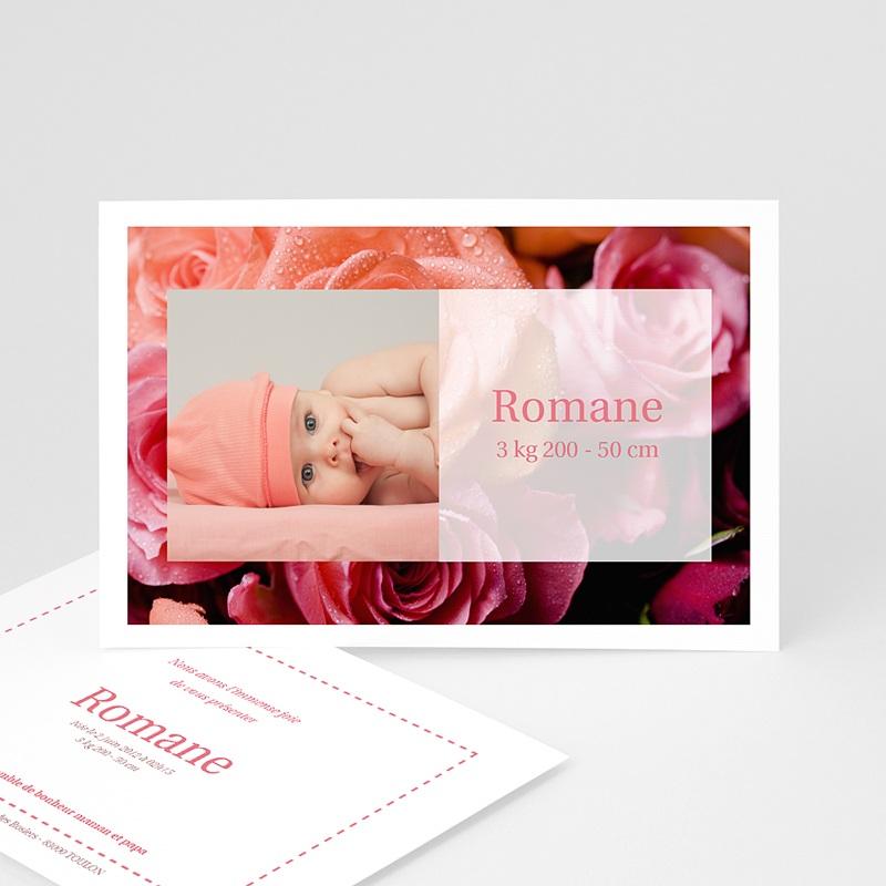 Faire-Part Naissance Fille Rosa, rosa, rosam