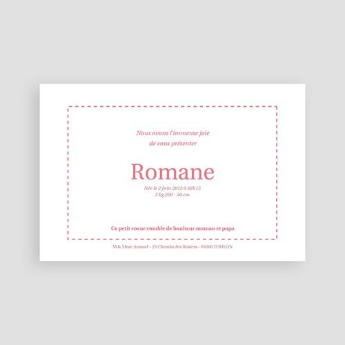 Faire-Part Naissance Fille - Rosa, rosa, rosam 4165 preview