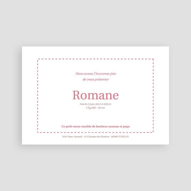 Faire-Part Naissance Fille Rosa, rosa, rosam pas cher
