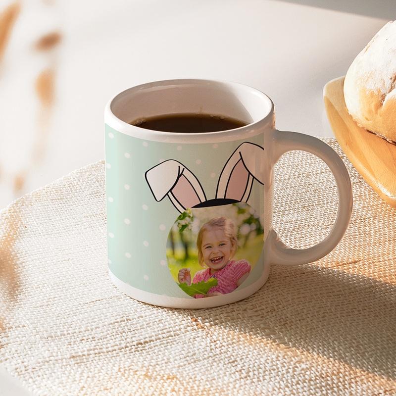 Mug Personnalisé Photo Oreilles de lapin