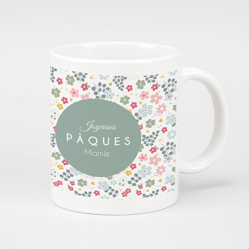 Mug Personnalisé Photo Pâque fleurie
