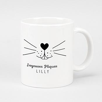 Mug Personnalisé - Moustache de lapin - 0