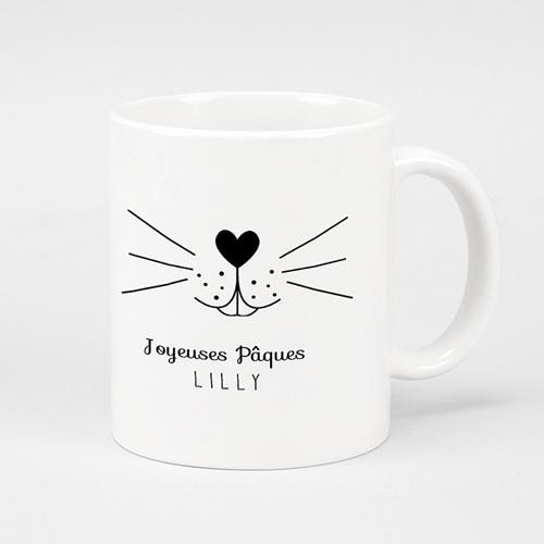 Mug Personnalisé Photo Moustache de lapin