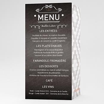 Créer soi même menu mariage personnalisé marions-nous !