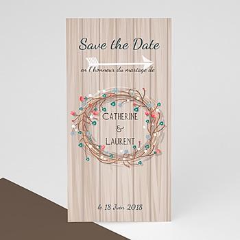 Save the date mariage Esprit champêtre
