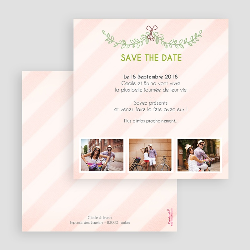 Save-The-Date - Rayures et photos 41777 thumb