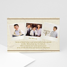Menorah argentée - Carte d'Invitation - 3