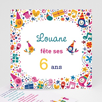 invitation anniversaire enfant carte personnalis e. Black Bedroom Furniture Sets. Home Design Ideas