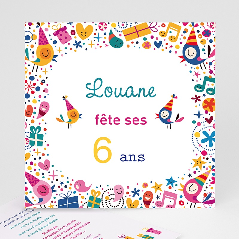 Carte Invitation Anniversaire Fille Carteland Com