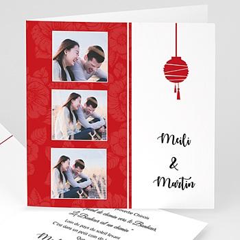 Faire part de mariage photo thème chine avec photo