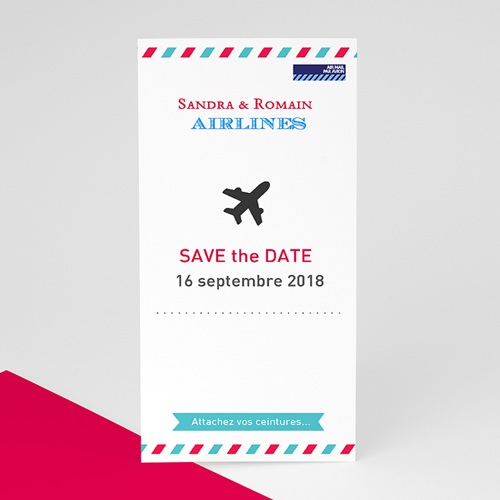 Save The Date Mariage Airlines