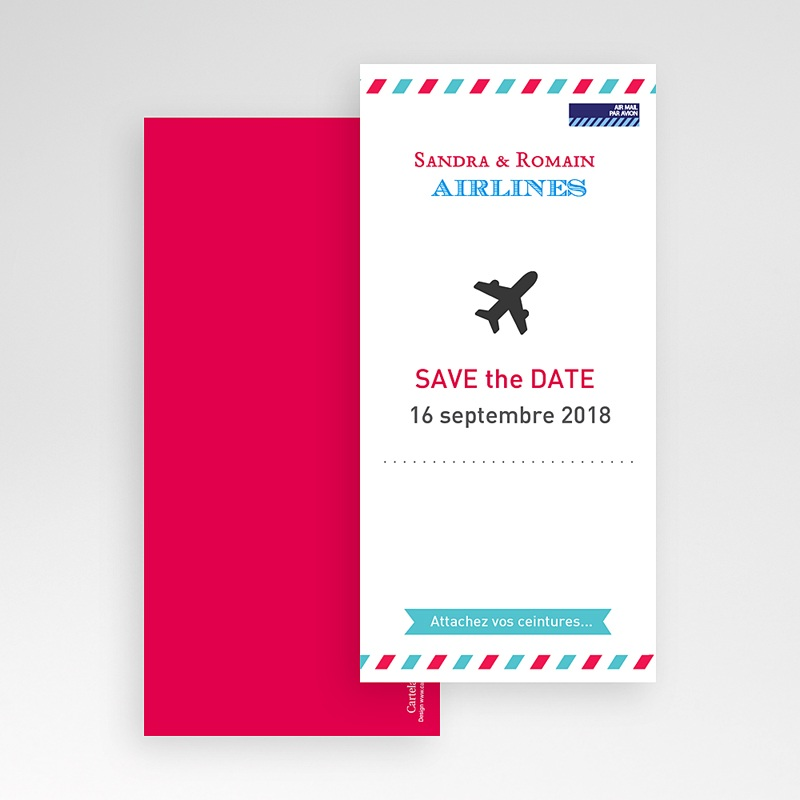 Save The Date Mariage Airlines pas cher