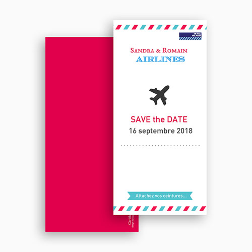 Save The Date Mariage Airlines gratuit