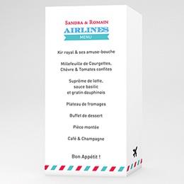 Menu Mariage Personnalisé Airlines