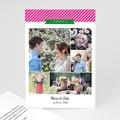 Carte remerciement mariage - Ambiance Pop - 4151