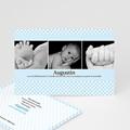 Faire-Part Naissance Garçon - Naissance du Bonheur - bleu 4208 thumb