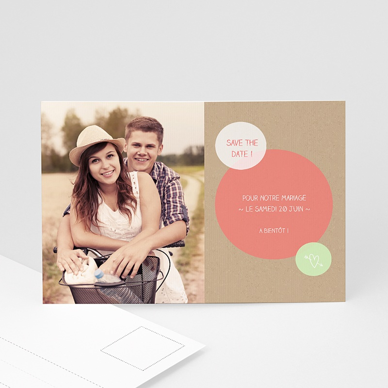 Save The Date Mariage Bulles créatives