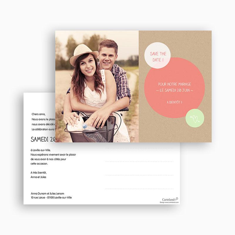 Save The Date Mariage Bulles créatives gratuit