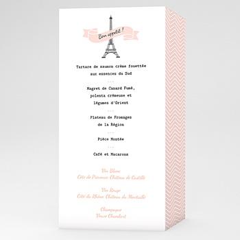 Menu Mariage Personnalisé Love in Paris