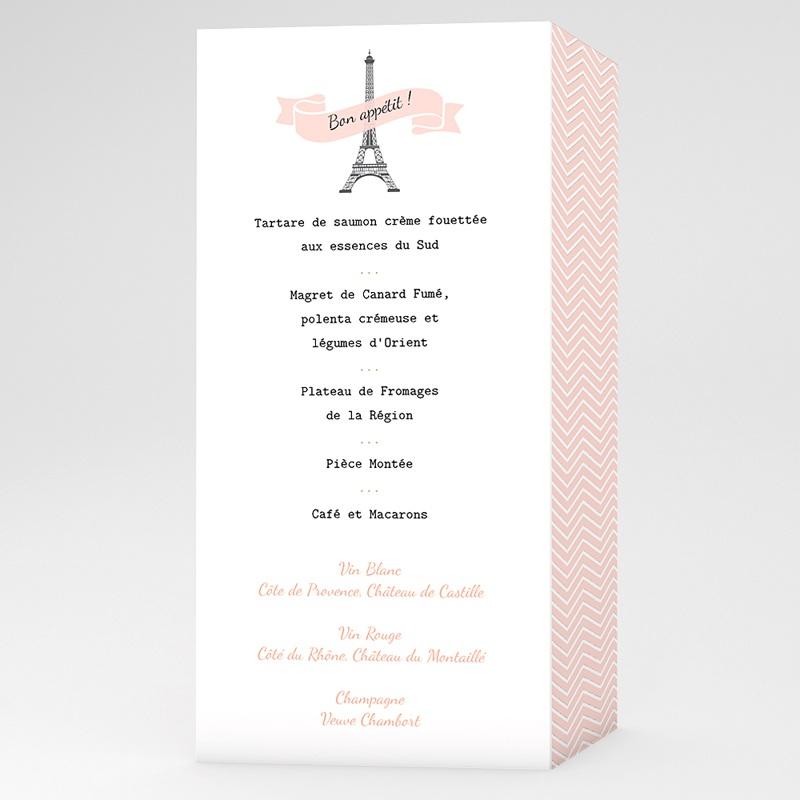 Menu Mariage Personnalise Love In Paris Carteland Com