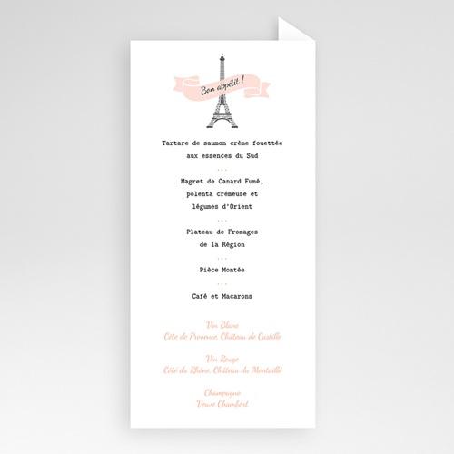 Menu Mariage Personnalisé Love in Paris pas cher