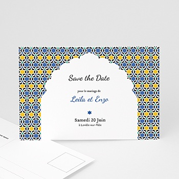 Achat save the date mariage arche oriental