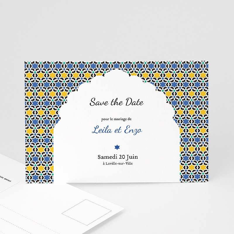 Save the date mariage Arche Oriental