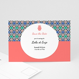 Save the date mariage Oriental Style