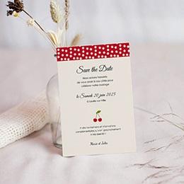 Save the date mariage Le temps des Cerises
