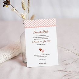 Save the date Mariage Péché gourmand