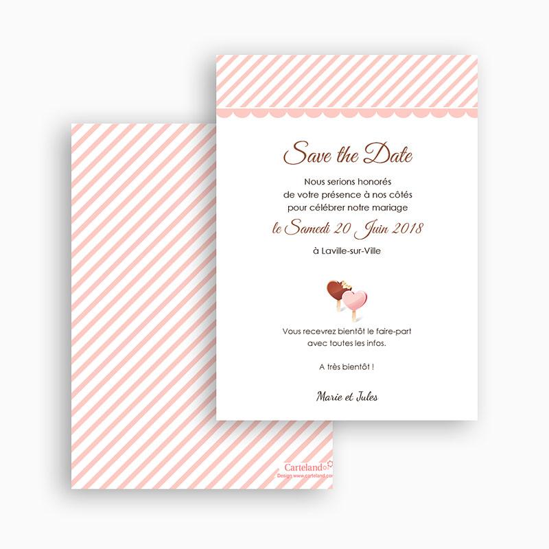 Save the date mariage Péché gourmand gratuit