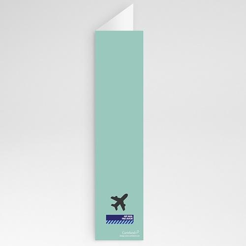 Menu Mariage Personnalisé Avion voyage gratuit