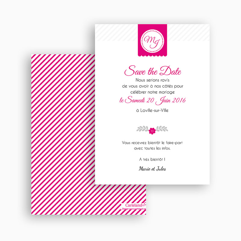 Save The Date Mariage Simple et chic gratuit