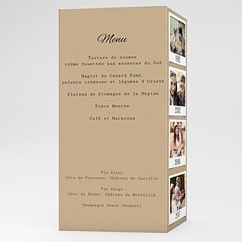 Acheter menu mariage personnalisé notre histoire