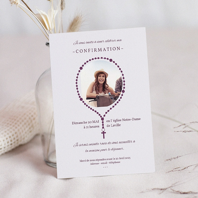 Invitation Confirmation  - Chapelet 42703 thumb