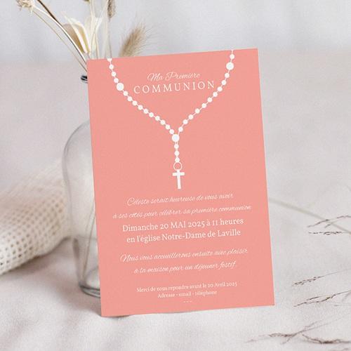Faire-part Communion Fille - Prière 42709