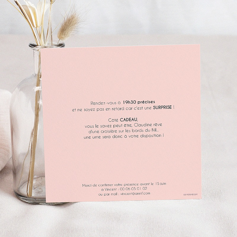 Top Invitation Anniversaire Adulte - 70 ans ardoise | Carteland.com OO91
