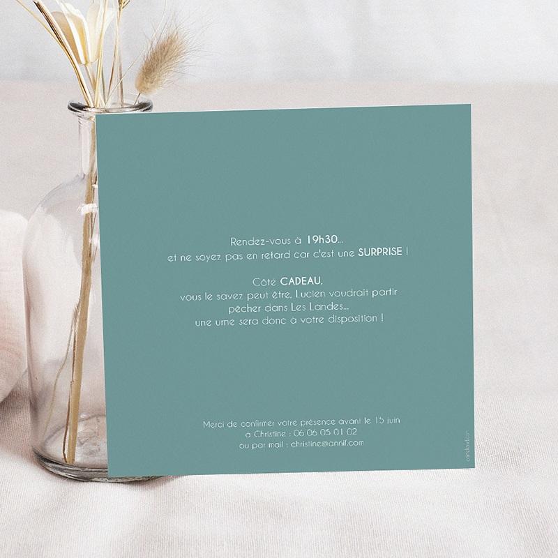 Invitation Anniversaire Adulte - 80 ans ardoise 42754 thumb