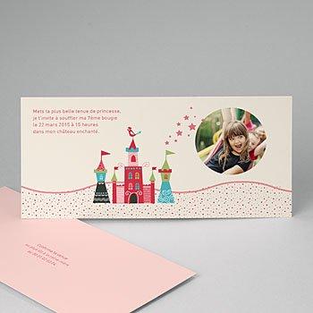 Invitation Anniversaire Fille - Au château - 0
