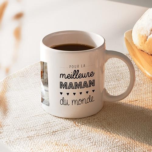 Mug Personnalisé Fête des Mères Idée cadeau Pour la meilleure maman du monde
