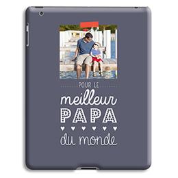 Coque iPad 2 - Message Papa - 0