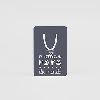 Marque-page aluminium papa lecteur personnalisable