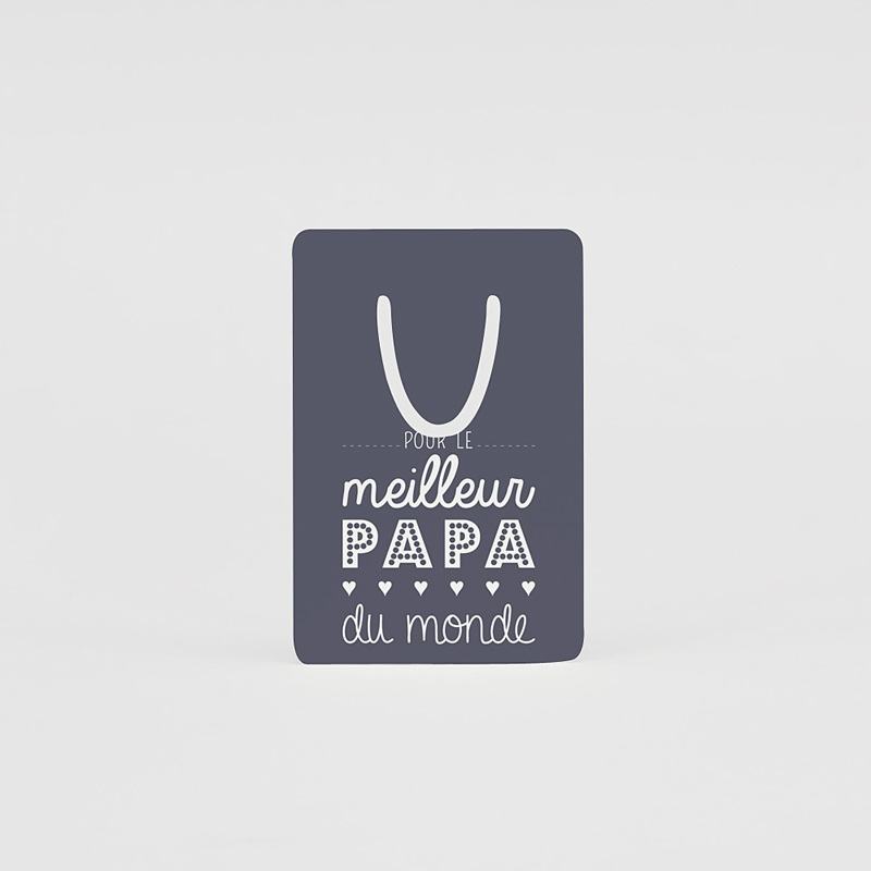 Marque-page aluminium Papa Lecteur