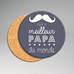 Dessous de Verre Personnalisé Photo - Message Papa - 0