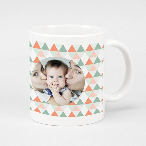 Mug Personnalisé - Triangles pastel 42880