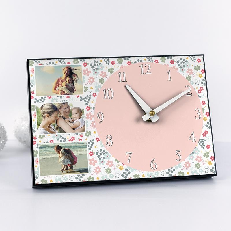 Horloge Personnalisée Photo Fête printanière